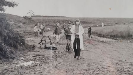 Sponsored walk on the heaths in the 1970s. Picture: Mary Garner