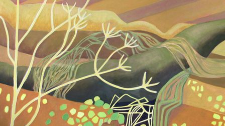 Alde Valley by Anita Cameron is one of the shortlisted works in the Sir John Hurt Art Prize exhibition