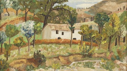 French Landscape by Cedric Morris will be on show at the Sir John Hurt Art Prize exhibition
