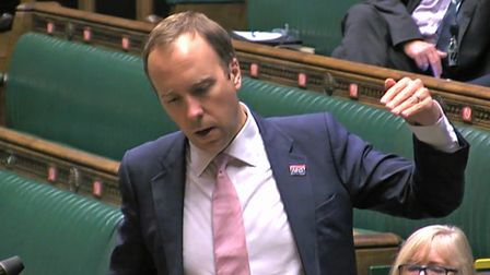 Heath Secretary Matt Hancock speaking in the House of Commons on Tuesday. Photo: House of Common/PA Wire