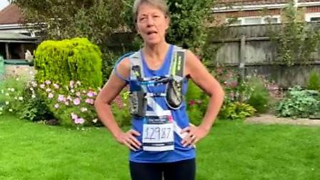 March Athletic Club members laced up their running shoes to mark two major events. Pictured is Pat Norris who took part in...