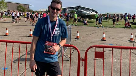 March Athletic Club members laced up their running shoes to mark two major events. Pictured is James Arran at the Duxford...