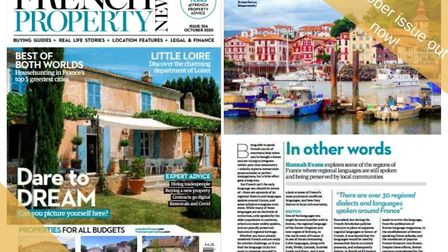 The October issue of French Property News is out now!