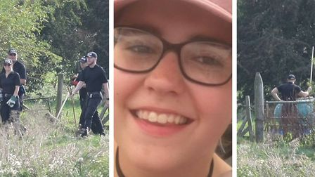 Police probing the death of teenager Bernadette Walker are scouring the countryside at Cowbit in Lincolnshire.