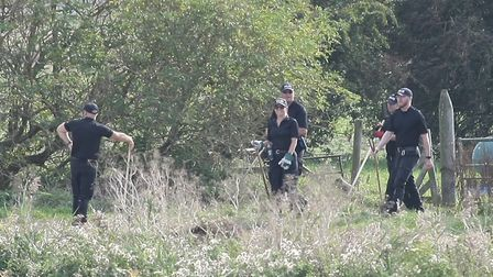 Detectives probing the disappearance of a teenager from Peterborough are searching a remote area of the Fens at Cowbit.