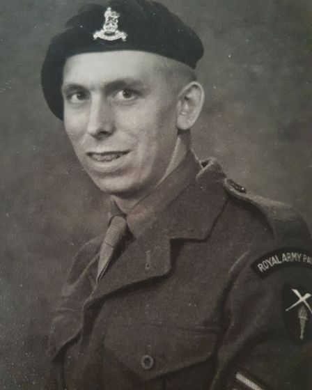 Arthur Gill trained to become a sergeant for the national service. Picture: ARTHUR GILL