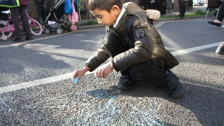 School Streets... new schemes making it safe for pupils outside gates at home time. Picture: LBTH