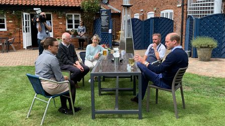 Prince William at The Rose & Crown in Snettisham. Picture: Andrew Waddison/AW PR