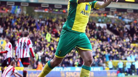 Robert Snodgrass set Norwich City on their way to a 2-0 Premier League win over Sunderland. Picture
