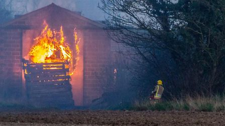 Martham barn fire. Picture: James Taylor Photographic