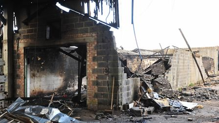 A former Mushroom factory is devastated by fire.