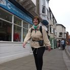 Norfolk County Council chairman Hilary Cox who is walking across Norfolk in aid of Big C. Picture: R