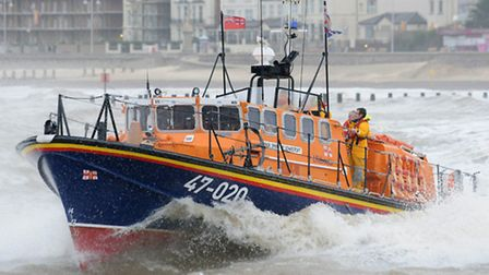 """The RNLI """"Spirit of Lowestoft"""" lifeboat was called out. Picture: NICK BUTCHER."""