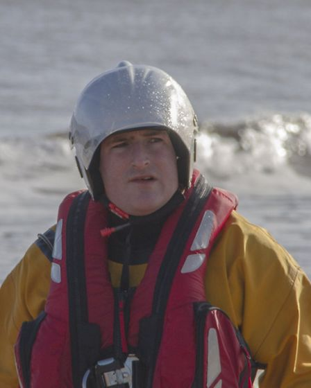 Daniel Hurd, coxswain of Hemsby Inshore Rescue Service lifeboat. Picture by James Taylor Photographi