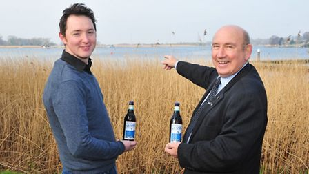 Adnams has created a special brew to celebrate Nessie's arrival, toasted here by Adnams head brewer