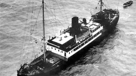The original Radio Caroline ship, which was moored of Felixstowe not far from the Cork lightship in