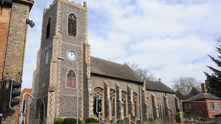 St Peter's Church is being revamped by Thetford Town Council.L-r Maurice Howard, town clerk, Roger S