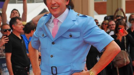 Steve Coogan as Alan Partridge on the red carpet of the world premiere of Alan Partridge: Alpha Papa