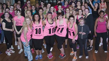 Two-hour charity 'zumbathon' at Dereham Northgate High School on March 21. Photos by Michael Lyons P