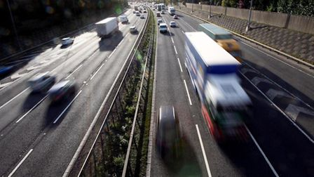 There is more traffic on motorways but less on rural main and minor roads.
