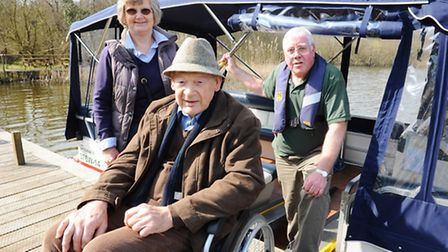 A new wheelchair accessible boat being launched at Fairhaven woodland and water garden.Peter Smith h