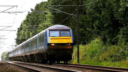 Greater Anglia train on the Norwich to London service run by Abellio. Photo: Bill Smith