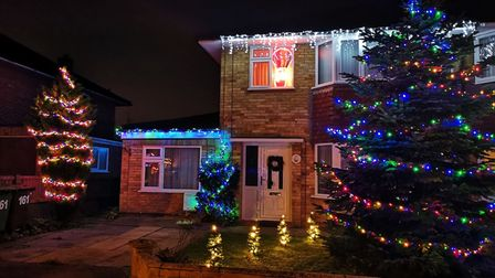Plumstead Road house decorated early for Christmas. Pictures: BRITTANY WOODMAN