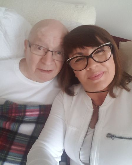 John Doherty with daughter Nuala. Picture: Saint Francis Hospice