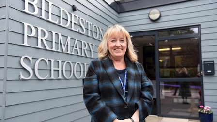 Bildeston Primary School headteacher Lynne Goulding at the opening of the refurbished building Pictu