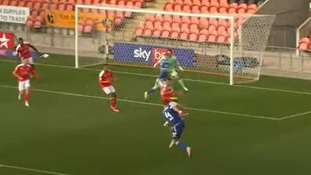 Luke Chambers scored a cracker in Ipswich Town's 4-1 win at Blackpool yesterday Picture: ITFC YOUTUB