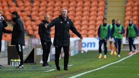 Ipswich Manager Paul Lambert at Blackpool. Picture Pagepix Ltd