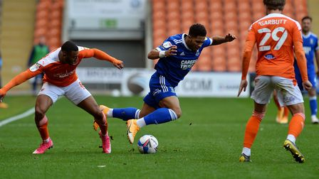 New signing Keanan Bennetts on his debut at Blackpool. Picture: PAGEPIX LTD