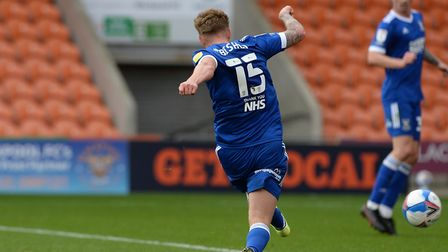 Teddy Bishop makes it 3-0 to Ipswich at Blackpool. Picture Pagepix Ltd