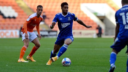 Ipswich Town's new signing Keanan Bennetts scored for the U23s at Colchester Picture: PAGEPIX LTD