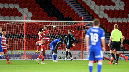 Doncaster Rovers celebrate scoring making it 4-1 against Ipswich. Picture Pagepix Ltd