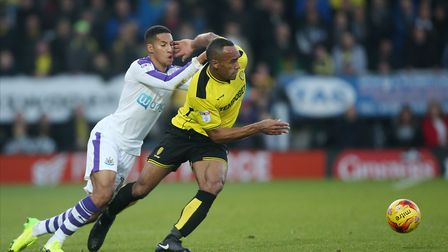 Chris O'Grady (right) pictured in action for Burton Albion. Photo: PA