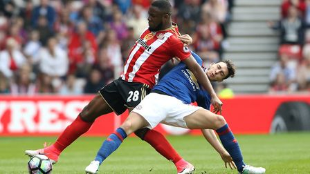 Victor Anichebe (left), pictured during his time at Sunderland. Photo: PA