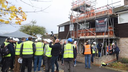 A team of volunteers renovated Simon Dobbin's home in Mildenhall Picture: ARCHANT