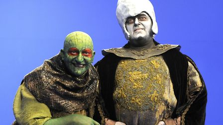 Characters from the children's TV game show Knightmare which was originally produced in Norwich. Pic