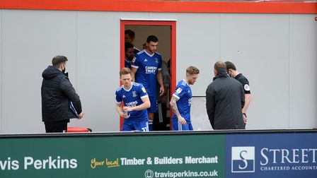 The Portakabin changing room at Lincoln City. Picture Pagepix