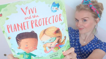Tina Newman with her new book, Vivi and the Planet Protector. Picture: TINA NEWMAN