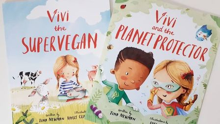 Vivi and the Planet Protector, by Tina Newman, is the sequel to Vivi the Supervegan. Picture: TINA N