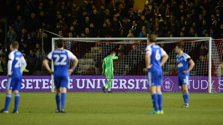 Ipswich are stunned by Lincoln's late FA Cup winner in 2017. Picture: PAGEPIX