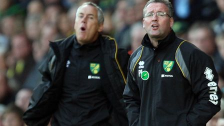 Ian Culverhouse and Paul Lambert during their time together at Norwich City. Pic: Paul Chesterton/Fo