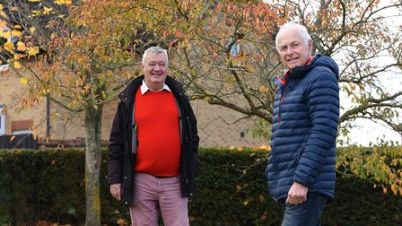 Charity chairman Paul Wade and vice chairman Roger Smith Picture: CHARLOTTE BOND