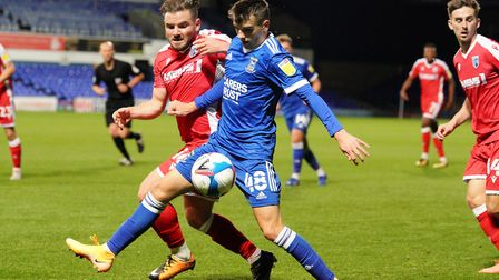 Liam Gibbs could feature in Ipswich Town's FA Youth Cup clash with Southend next Tuesday Picture: ST