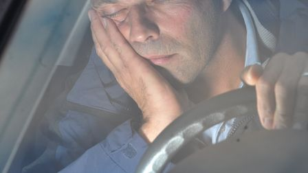 Suffolk came ninth on a list of counties with the most road collisions caused by driver fatigue last