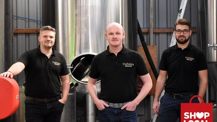 Charles Baldwin Business Developer, Alec Williamson Founder and Director and Adam Button Head of Sales. Calvors Brewery in...
