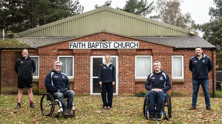 Woodbridge Rugby Club are looking to purchase the Baptist Church next to their current base. L-R Steve Wilding, Joy...