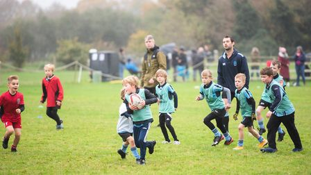 Young players at Woodbridge Rugby Club. Picture: SARAH LUCY BROWN